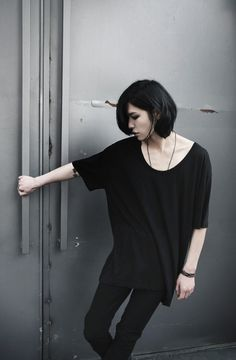 the HAIR with the simplicity and black... pure love