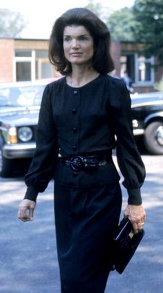 Jackie at the funeral of Prince Stan. Radziwill 1976