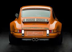 """A Singer Porsche 911.  Singer """"backdates"""" relatively recent vintages of 911 (20 year old 964 variants) to appears as 40 year old 911s.  The result is a revered early 911 look with much better power, handling, and livability. BB"""