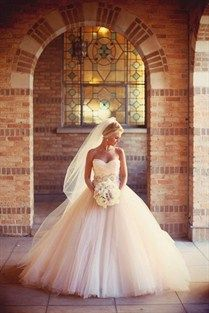 WEDDING / Lazaro Ball Gown Wedding Dress.