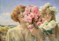 Temas da Pintura: Mulheres e flores! | Artes & Humor de Mulher