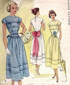 Vintage 40s Evening Or Party Dress Sewing Pattern 7663 B31 13