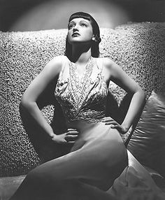 Dorothy Lamour Evening gown blk white