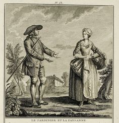 Typical dress of a gardener and servant of Versailles circa 1780's.