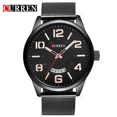 Curren Watches Men Top Luxury Cow Quartz-Watches Sport Watches Waterproof Relogio Heren Hodinky 8236