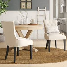Product Grandview Upholstered Side Chair (Set of Solid Wood Dining Chairs, Upholstered Dining Chairs, Dining Chair Set, Dining Sets, Wooden Chairs, Dining Tables, Elegant Dining Room, Dining Decor, Kitchen Dining