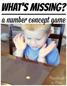 Super fun {super low prep!!} number concept game for kids.