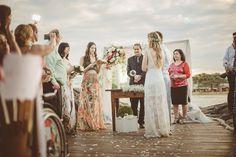 Casamento Civil e intimista na praia – Aline & Seyphert | Lápis de Noiva