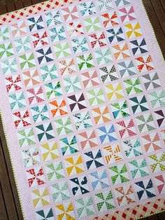Pinwheels on Parade from Red Pepper Quilts