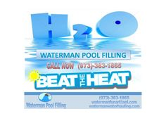 """""""Beat The Heat"""" is our Logo.  so call today and swim right away"""