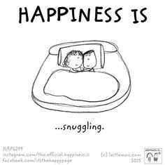 ...snuggling.