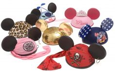 Disney Animal Kingdom, Pirate Princess, Stitch, Princess, 4th of July, Gold Sequin & Red Pirate EARS