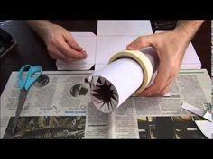 Como fazer um baú de jornal - YouTube