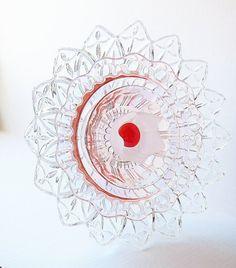 Garden Art Yard Decor Pink Feminine Suncatcher UpCycled RePurposed Glass EMILIE. $75.00, via Etsy.