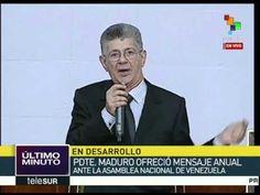 Venezuela: cuestiona MUD en parlamento mensaje anual de Nicolás Maduro