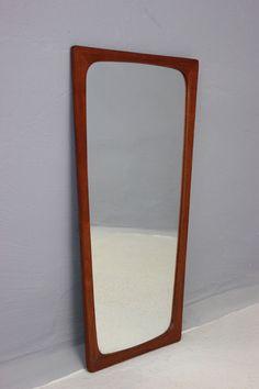 SPIEGEL WANDSPIEGEL TEAK DANISH 60er / MIRROR TEAK DANISH 60s in Antiquitäten & Kunst, Design & Stil, 1960-1969   eBay