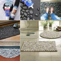 Кроме декоративного эффекта такой коврик обладает полезной функцией – массаж ступней.