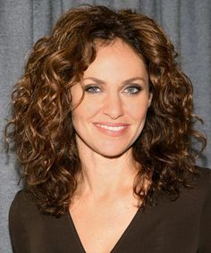 Long hairstyles for women over 40 curly