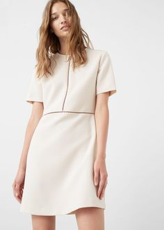 Discover the latest trends in Mango fashion, footwear and accessories. Shop the best outfits for this season at our online store. Nice Dresses, Casual Dresses, Casual Outfits, Short Sleeve Dresses, Moda Mango, Smart Dress, Mango Fashion, Fashion Outlet, Spring Fashion