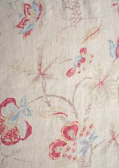 FLEURS DE PROVENCE: fabric for curtains & bottom portion of crib skirt.   #projectnursery #franklinandben #nursery