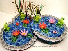 Paper Quilling - Lily Pond