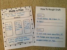 How To Writing Unit: Making a Plan before writing