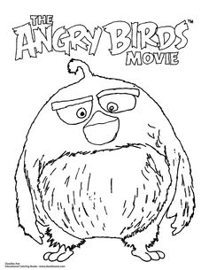 Angry Birds Movie Coloring Sheet!