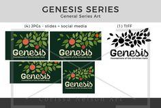 Genesis Foundations of Faith Series Art Foundation Series, Church Graphic Design, Genesis 2, Pentecost, Garden Of Eden, Old Testament, All Icon, Christian Faith, In This World