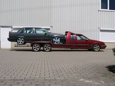 SAM Carrier, a six wheel 850 Volvo (definitely the way to haul your other Volvos) Volvo 850, Mini Trucks, Old Trucks, Weird Cars, Cool Cars, Flower Car, Volvo Cars, Peterbilt Trucks, Car Colors