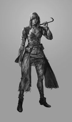 Post-Apocalyptic Female Survivor | Post Apocalyptic People Art Post apocalyptic- female