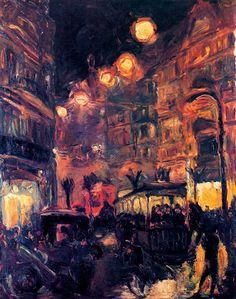 Rue la nuit, de Max Beckmann (1913)