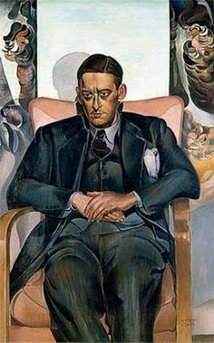 T. S. Eliot by Wyndham Lewis, 1938.