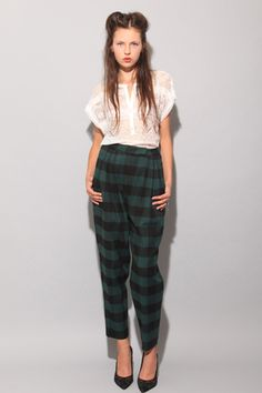 Plaid pants that don't look like jammies!