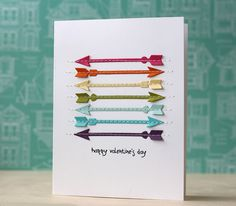 Happy Valentine's Day Card by Laura Bassen for Papertrey Ink (December 2013)