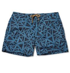 83a0d5681b2 Thorsun - Titan Slim-Fit Mid-Length Printed Swim Shorts Menswear