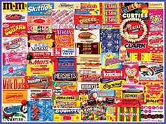 White Mountain Puzzles Vintage Candy Wrappers - 300 Piece Jigsaw Puzzle White Mountain Puzzles http://www.amazon.com/dp/B00GONNEU0/ref=cm_sw_r_pi_dp_D9E9ub05CFQYJ