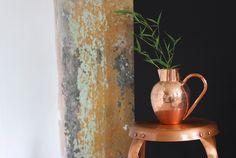 Copper Jug Deliciousness  Available at www.aprilandthebear.com Bear Art, Beautiful Textures, Copper, Vase, Interior, Home Decor, Winter, Homemade Home Decor, Winter Time