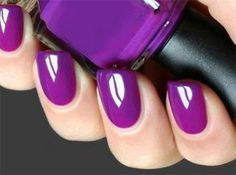 Purple nails www.finditforweddings.com Gloss
