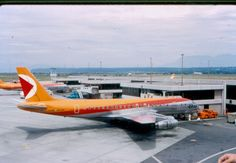 The old CP-Air colors . At Vancouver BC Canada Richmond Vancouver, Vancouver Bc Canada, Vancouver Island, Canadian Airlines, Pacific Airlines, Canada Eh, Old Pictures, British Columbia, Aircraft
