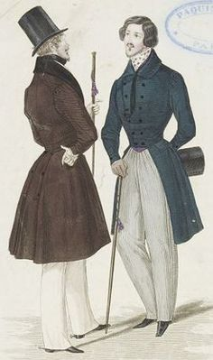 Men's fashion, ca. 1830