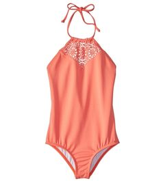 2a386c5c34e Billabong Girls  Just Beachy One Piece Swimsuit (6X-14) at SwimOutlet.com -  Free Shipping
