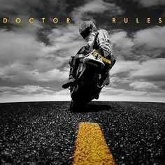 Find the best prices on Doctor Rules Valentino Rossi Yamaha MotoGP Canvas Wall Art Picture Print and save money. Valentino Rossi Yamaha, Valentino Rossi 46, Motogp, Vale Rossi, Course Moto, Gp Moto, Vr46, Baggers, Harley