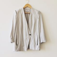 Helmut Lang blazer Originally purchased this gorgeous modern blazer from another posher but never got around to wearing it! Helmut Lang Jackets & Coats Blazers