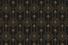 Damask Wallpaper Pattern Vector by kio on @creativemarket