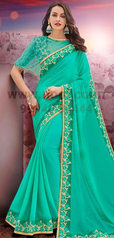http://www.nool.co.in/product/sarees/plain-saree-green-chiffon-pearl-embroidery-patch-border-bz5971d87496