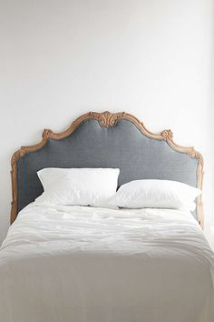 Dusty blue headboard