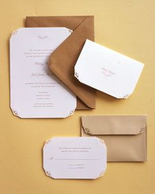 Cutting Corners | Martha Stewart   friskers punches look nice on the envelope flaps and like this color pallet