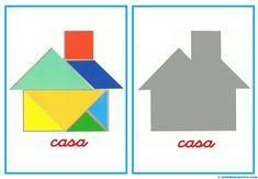 Tangram | Figuras para imprimir online Maths Day, Maths Area, Fun Math, Geo Board, Tangram Puzzles, Geometric Pattern Design, Fabric Stamping, Busy Book, Pattern Blocks