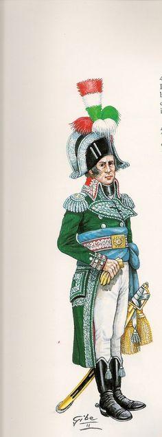 Guardia Civica de Venecia.- 1797.  Dibujo anonimo conservado ...