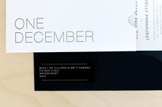 One December wedding invitation by Seven Swans